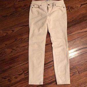 Off White Vineyard Vines Ankle Jeans 8